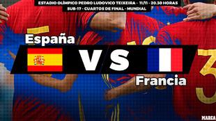 España - Francia: horario y dónde ver en television hoy el partido...