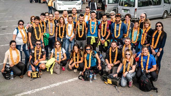 Los participantes en la novena edición de la Everest Trail Race.