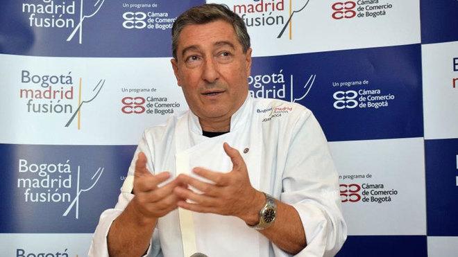 El chef español Joan Roca durante una rueda de prensa de la primera...
