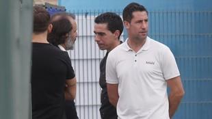 Capdevila, presenciando el entrenamiento, en una imagen de archivo.