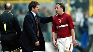 Cassano, con Capello en la Roma.