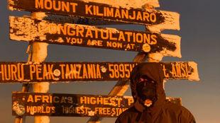 Muguruza, en la cima del Kilimanjaro