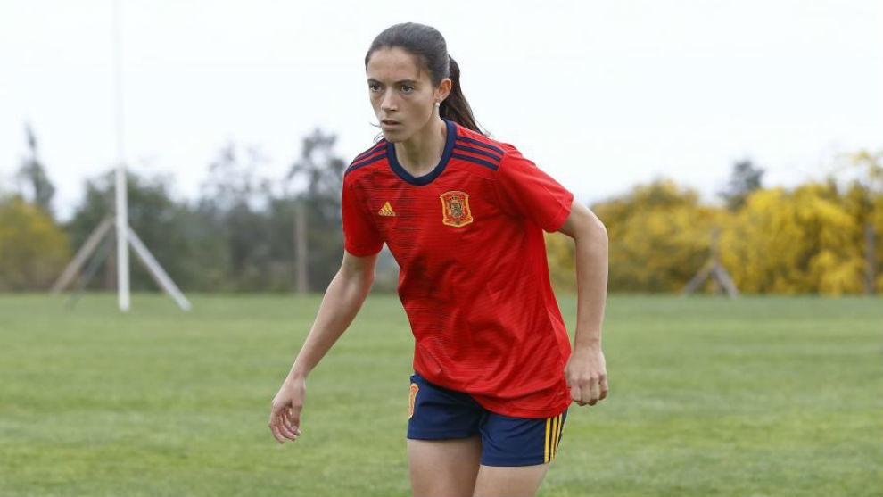Aitana Bonmatí, durante una campaña de publicidad.
