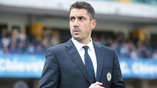 Julio Velázquez (38), en su etapa como técnico de Udinese.