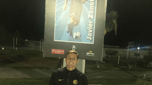Javier Zanetti, este lunes en Pachuca.