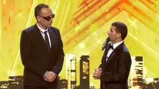 Risto Mejide con David García, cantante al que le ha dado el pase de...