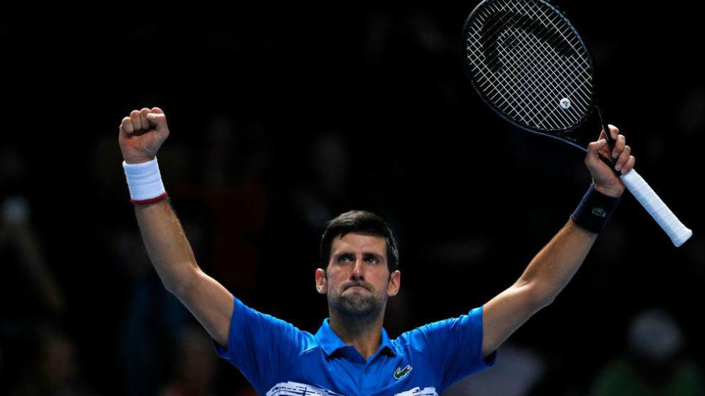 Djokovic celebra el primer triunfo