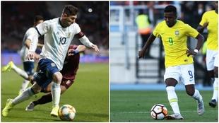 Leo Messi y Rodrygo.