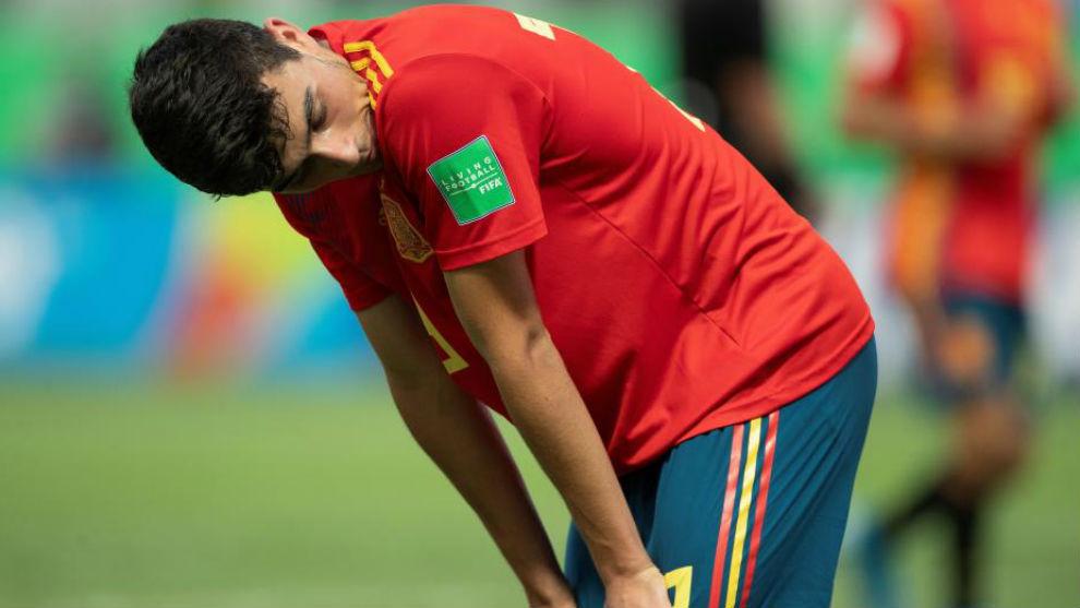Pedri se lamenta tras la eliminación del Mundial.