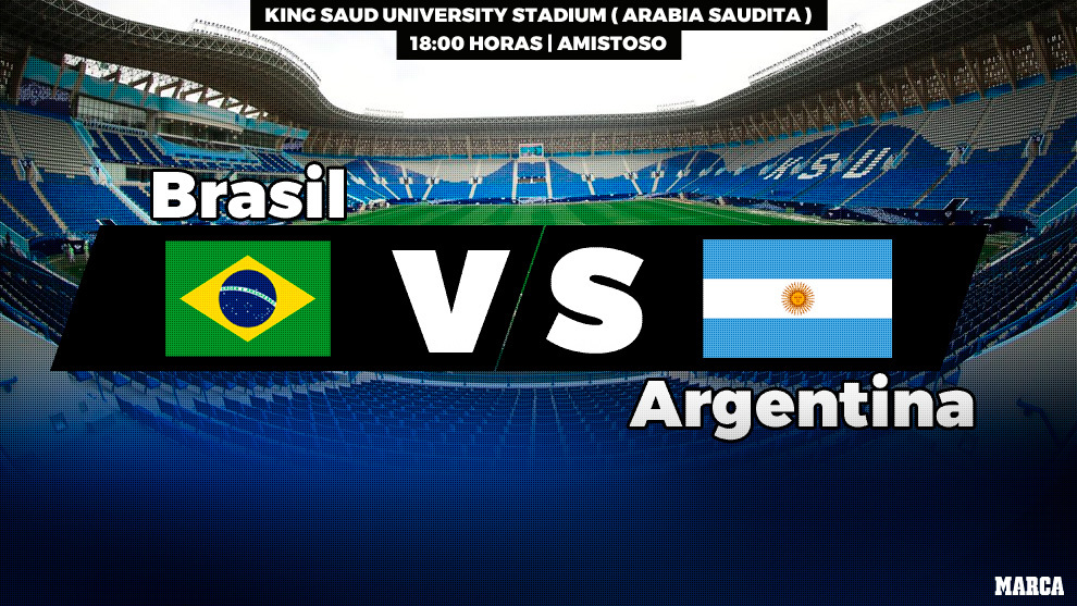 Brasil - Argentina: horario y dónde ver por television hoy el partido...