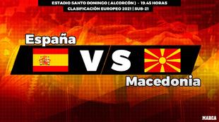 España - Macedonia Sub 21: horario y dónde ver en television el...