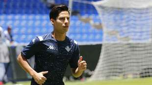Diego Lainez en el Estadio Cuauhtémoc
