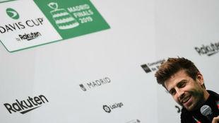 Gerard Piqué, en la presentación de la Copa Davis.