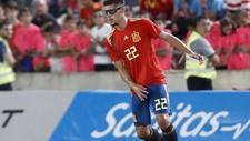 Montero durante el partido de España ante Alemania en El Arcángel.