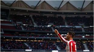 Morata celebrando su gol contra el Espanyol