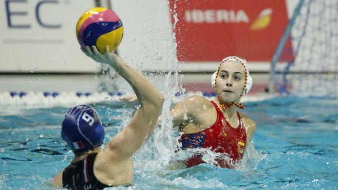 Beatriz Ortiz, en una acción defensiva