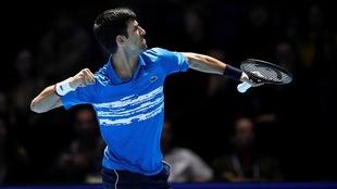 Djokovic durante un juego.