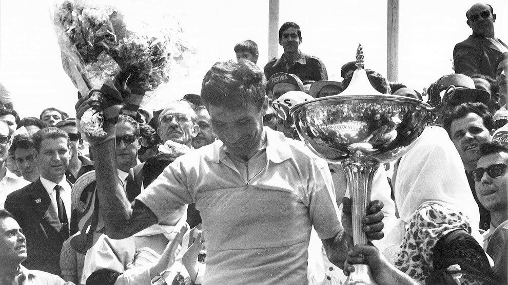 Raymond  Poulidor, campeón de la Vuelta a España en 1964
