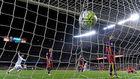 Imagen de un gol del Real Madrid en un Clásico celebrado en el Camp...
