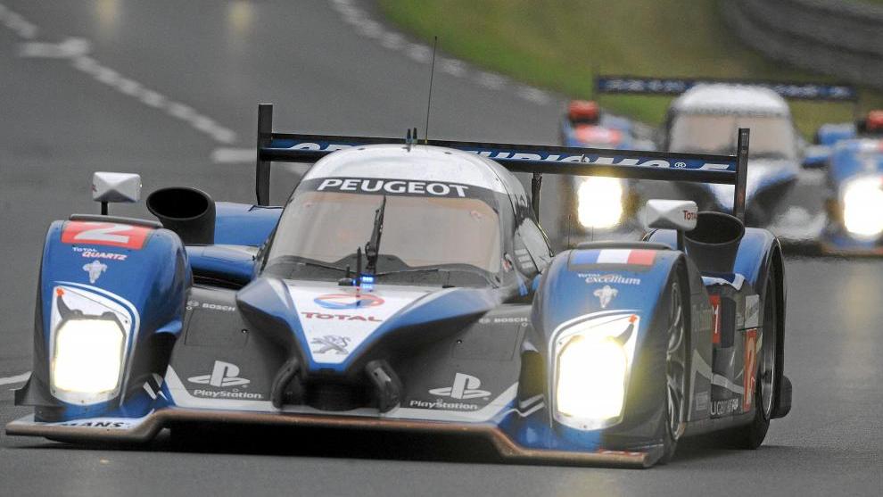 Peugeot, durante las 24 Horas de Le Mans, en 2010.