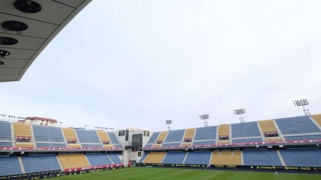 Imagen que presenta el estadio Ramón de Carranza para recibir a la...