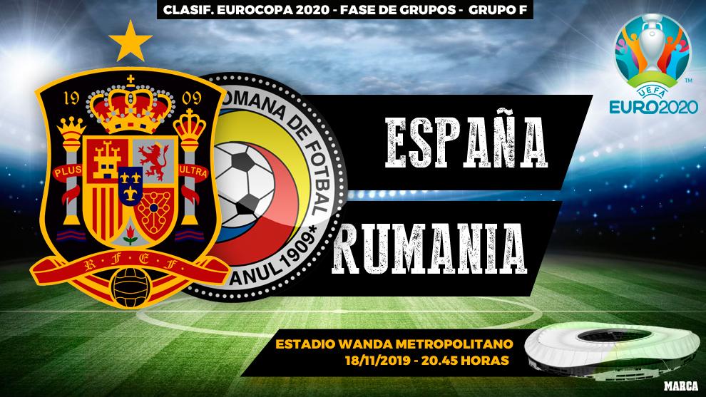 España - Rumania: horario, canal y dónde ver en televisión hoy el...