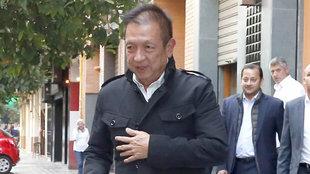 Peter Lim, durante una de sus visitas a Valencia.