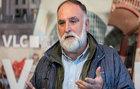 El cocinero José Andrés durante el homenaje en el ayuntamiento de...