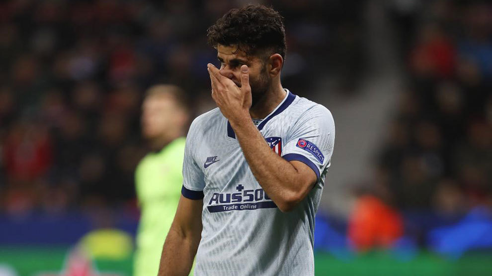 Atletico Madrid's Diego Costa sufferes slipped disc