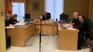 La sala del Juzgado de lo Mercantil número 12, durante la vista por...