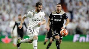 Nacho Fernández durante un partido de Champions League frente al...