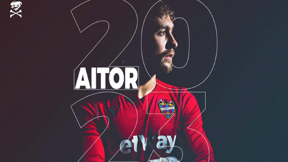 Aitor Fernández, en la imagen que ha difundido el club por su...