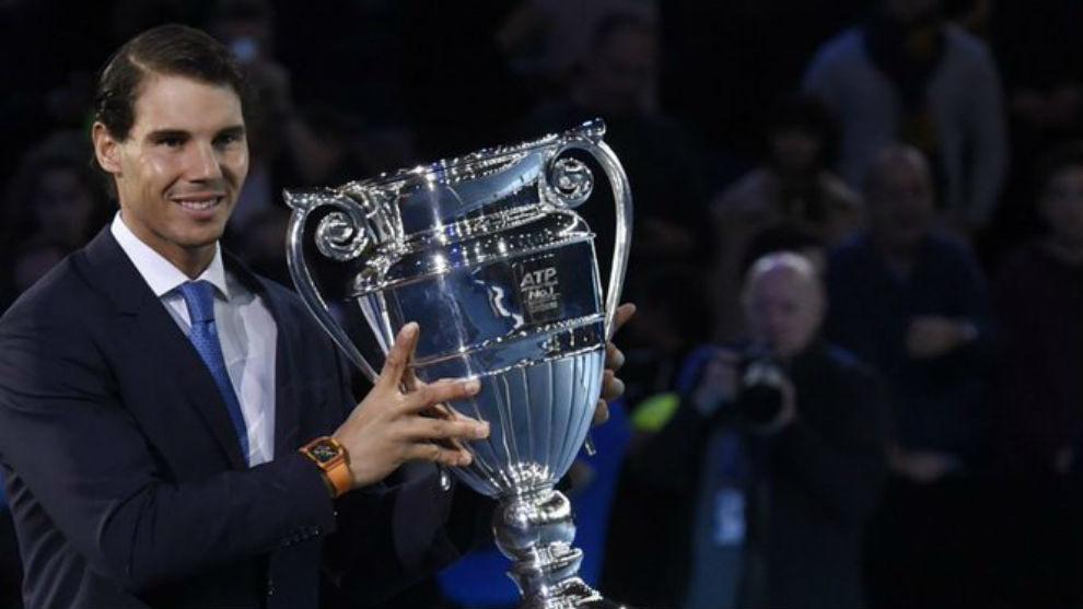 Nadal, con el trofeo de número uno en la edición de 2017