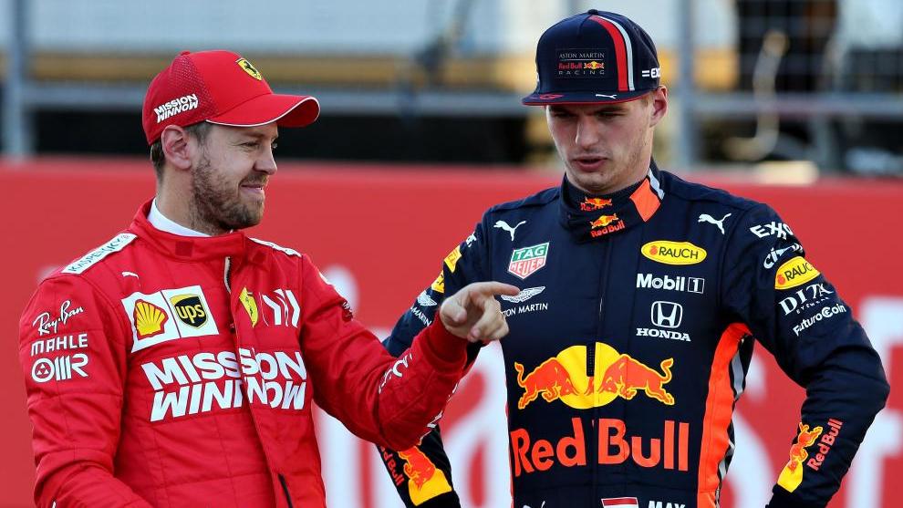 Vettel y Le Clerc se chocaron — Papelón