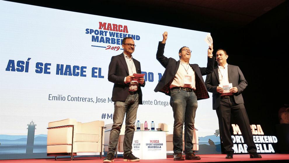 Emilio Contreras, Vicente Ortega y José María Rodríguez