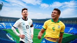 Messi y Casemiro con sus selecciones