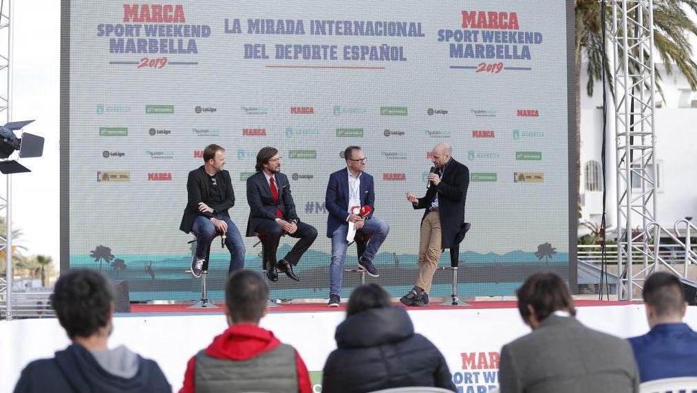 Sid Lowe, Filippo Ricci y Martín Ainstein, en las Terrazas del Puerto...