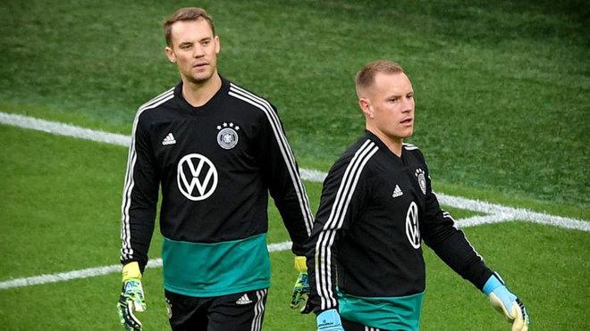 Neuer y Ter Stegen, con Alemania.