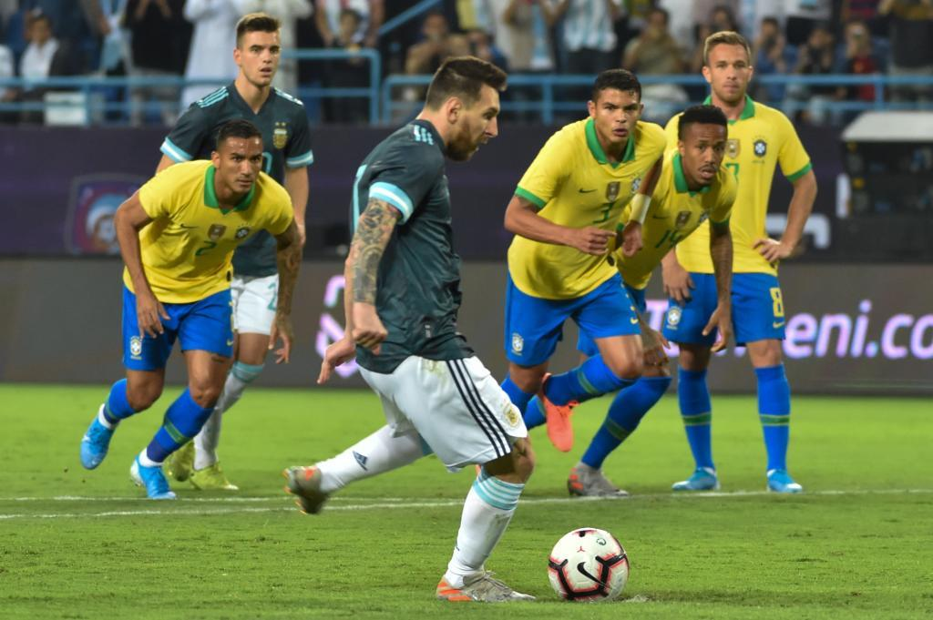 Messi ends seven-year goal drought against Brazil on Argentina return