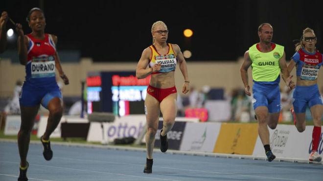Adiaratou Iglesias (20), en el Mundial de atletismo paralímpico de...