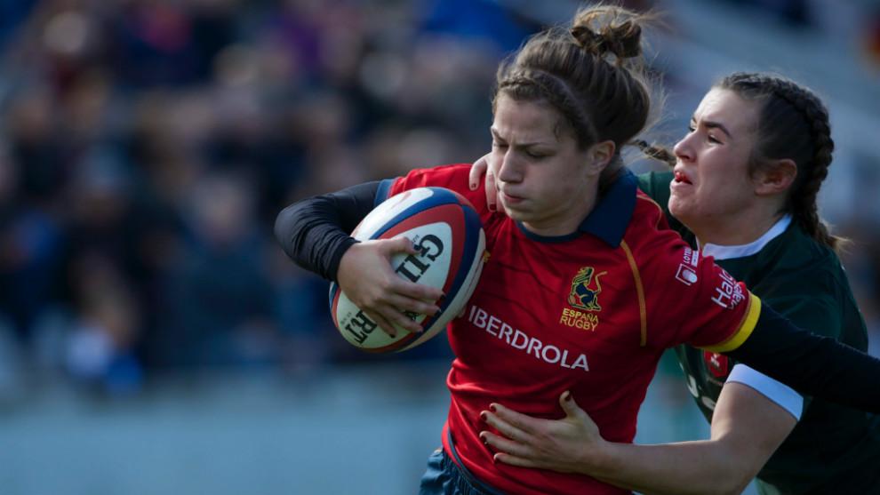 Bea Domínguez en el partido ante Gales