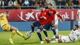 Morata marca el 1-0 a Malta