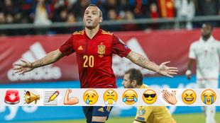 Santi Cazorla celebra su gol a Malta