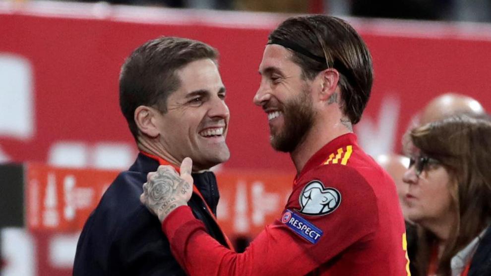 Moreno y Ramos, en el duelo contra Malta