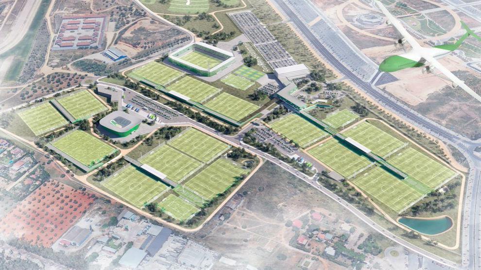 Imagen aérea por ordenador de la nueva Ciudad Deportiva