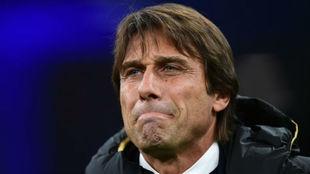 Conte, durante un partido del Inter.