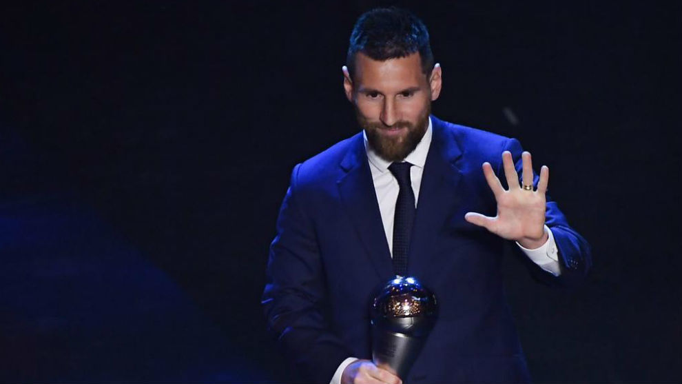 Messi, tras ganar The Best.