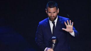 Messi, tras ganar The Best.