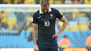 Benzema, con la selección de Francia.