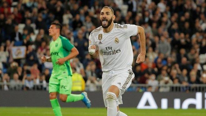 Benzema en un partido del Real Madrid.